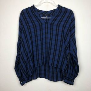 Madewell Popover Plaid Top Size XS